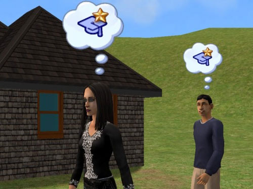 Allegra and Martin approach the hovel, both thinking about college honors