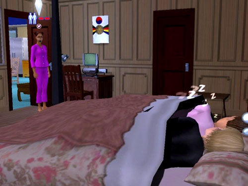 Christy catches Sandy in bed with Brandi