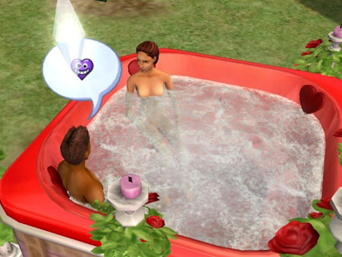 Damion and a nude Lyndsay discuss woohoo in the tub