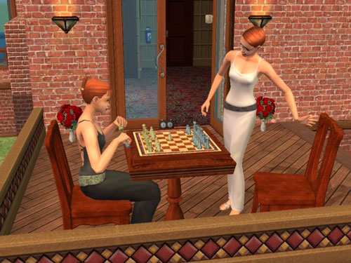Gina and Eleanor sit down to chess