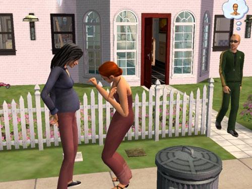 Eleanor Raptor admires Kaylynn's tummy