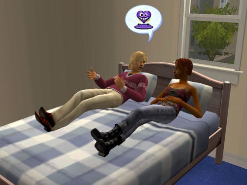 George and Sheila discuss public woohoo while reclining on a bed