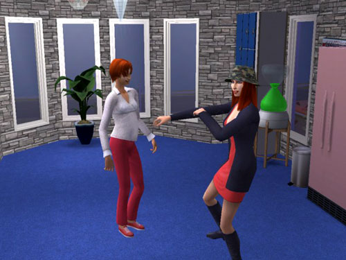 Sally and Gina dancing