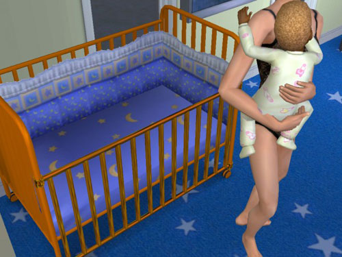 Gina rescues Gabriel from the crib
