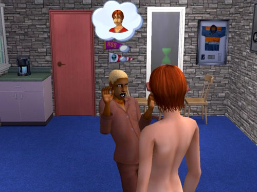 Gabriel is shocked by Gina's unclothedness