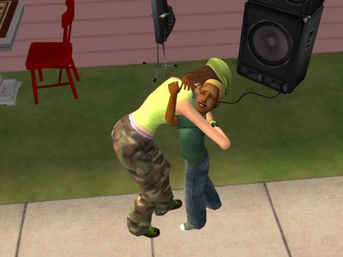 Jen hugs little Gabriel Raptor
