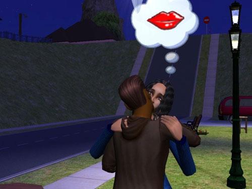 Joe kisses a wide-eyed Mackenzie
