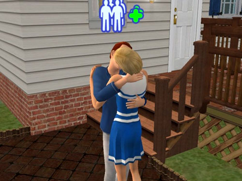 Justin and Olivia kiss
