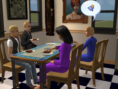 The Langeraks talking at the table