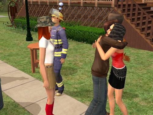 Mackenzie and Joe in the moving-in hug