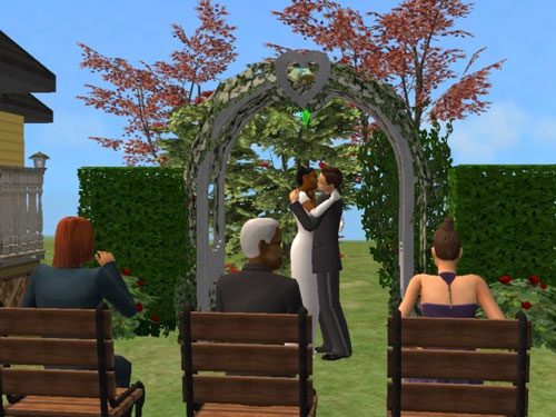 Randy and Regina marry under the arch