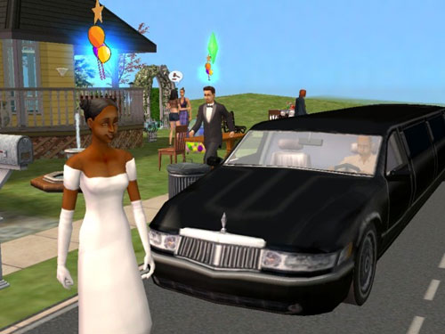 The couple get Good Party memories on the way to the honeymoon limo